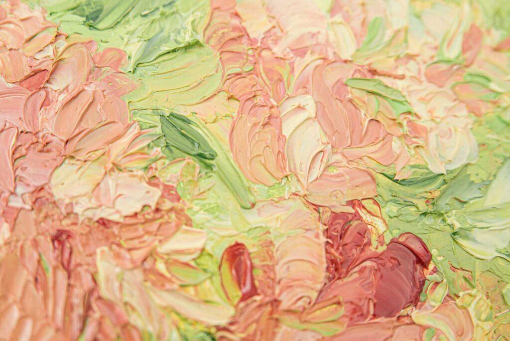 Impasto-Strukturbild aus Ölfarbe